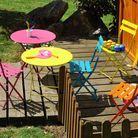 Table chaises pliantes enfant fermob