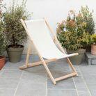 Chaise longue en toile