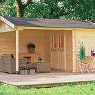 Une cabane de jardin avec terrasse