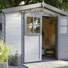 Une cabane de jardin comme bureau