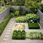 Jardin design structuré