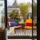Petite table ronde pour le balcon
