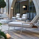 Salon de jardin esprit transatlantique en aluminium