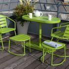 Salon de jardin gain de place vert