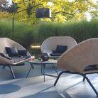 Un mobilier de jardin tout en courbes