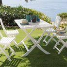 Ensemble repas jardin blanc maisons du monde