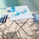 Petite table de jardin bleu