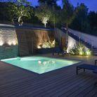 """Trophée d'argent dans la catégorie """"piscine de nuit"""""""