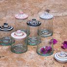 Une boîte en verre et céramique Chabi Chic