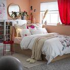 Une chambre rose