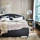 Cadre de lit matelassé