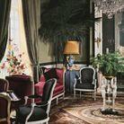 L'intérieur de l'hôtel particulier de Christian Dior, situé boulevard Jules Sandeau, dans le XVIe arrondissement de Paris