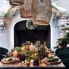 L'idée qu'on pique à la collection Noël Alinéa : parier sur des chaises en velours vert sapin