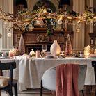 L'idée qu'on pique à la collection Noël Alinéa : suspendre une branche au-dessus de la table et l'habiller de petites guirlandes lumineuses