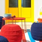 Pouf outdoor et tapis outdoor IKEA
