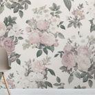 Un papier peint fleuri