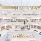 Stadtbibliothek, bibliothèque municipale de Stuttgart, Allemagne