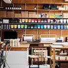 Le vaste atelier propice à l'élaboration de prototypes in situ