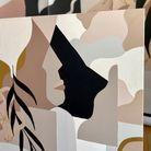 Gros plan sur la texture de la toile qui inspire le papier peint Madi X Ressource