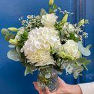 Bouquet blanc avec son vase