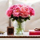 Bouquet de pivoines flamingo