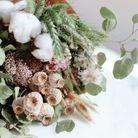 Un bouquet de fleurs séchées