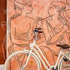 Comme un écho à l'architecture Art déco, un tableau néo-classique de Roberto Ruspoli