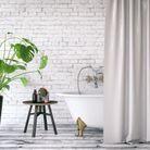 Grandes plantes d'intérieur - salle de bain