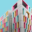 Maison colorée à Berlin, Allemagne
