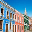 Maison colorée à Bogota, Colombie