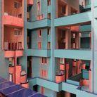 Maison colorée à Barcelone, Espagne