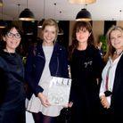Sylvie de Chirée (ELLE Décoration), Chloé Bolloré (artiste), Caroline Pois (ELLE Décoration), Sandrine Khiroun