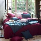 Parure de lit et coton en lavé