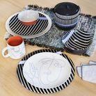 Tendance déco de l'automne-hiver : le Face Line Art sur la vaisselle