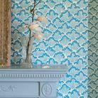 Le bleu turquoise au mur
