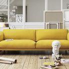 Canape moutarde design muuto