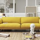 Un meuble jaune moutarde