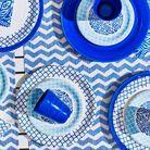Verre Et Assiette Bleu Collection Printemps été 2016 Ikea