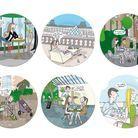 Des assiettes aux dessins de Paris