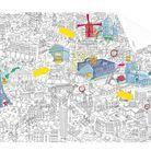 Une carte à colorier de Paris
