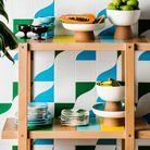Carrelage coloré style tropical