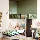 Une chambre d'enfant zen grâce aux touches de verts