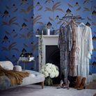 Une chambre bleue façon boudoir