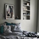 Une chambre grise qui ose le total look