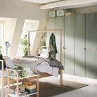 Chambre IKEA à l'esprit scandinave