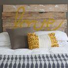 La tête de lit palette en bois