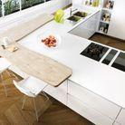 Un plan de travail blanc pour une cuisine épurée