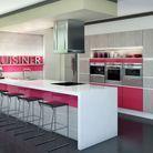 Une cuisine rose