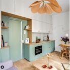 Cuisine d'architecte pour un petit appartement