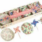 Fleux meri meri kit de moules à cupcakes de style roses